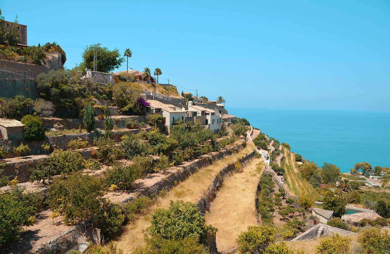 View of the Banyalbufar in Mallorca