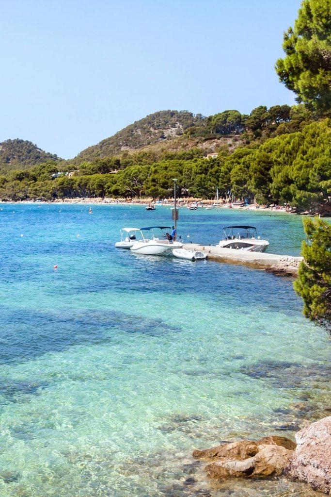Boats at Cala Formentor in Mallorca