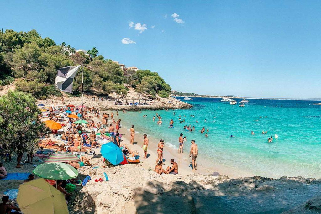 The beach of Cala Comtesa just outside of Palma de Mallorca