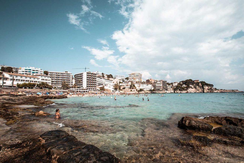 Beach at Cala Major in Majorca Spain