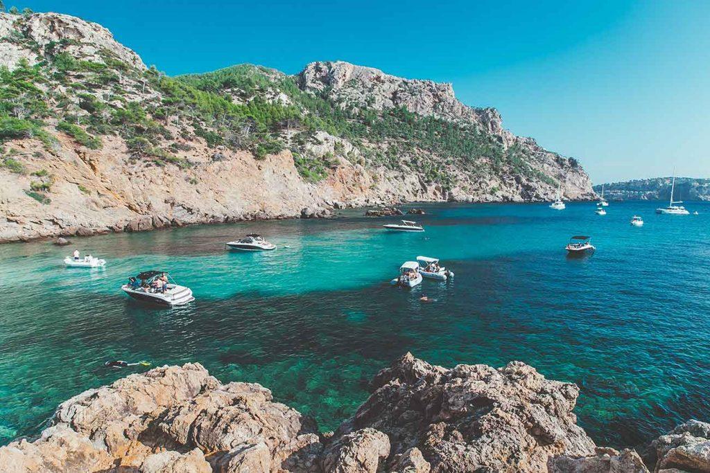 Boats at Cala Varques Mallorca
