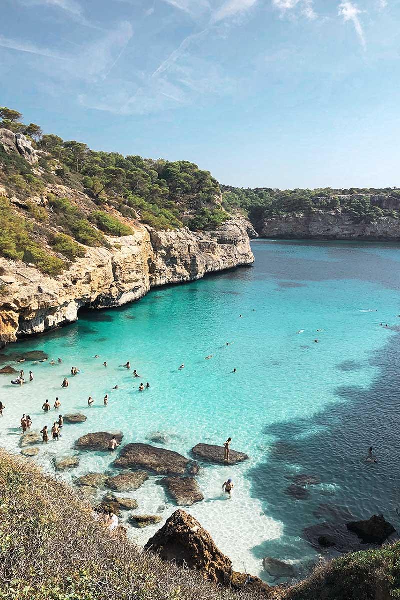 Cala dos Moro in Mallorca Spain