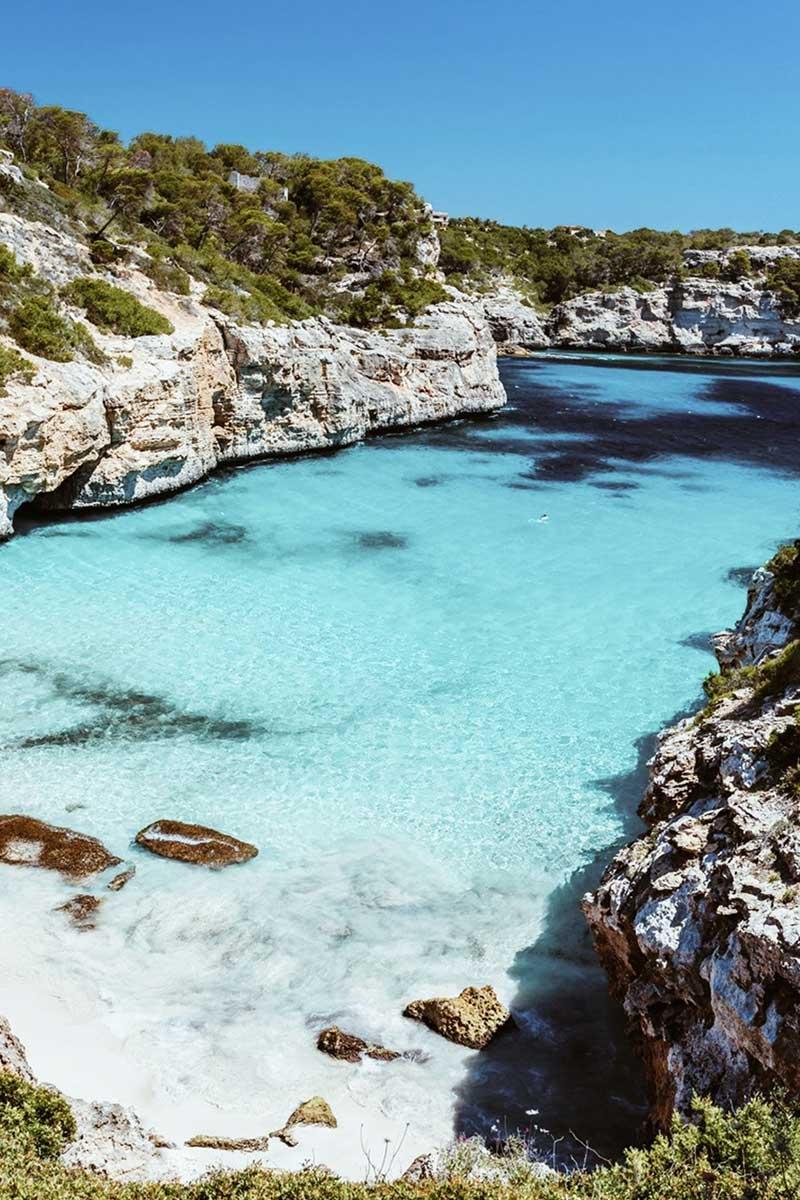 Beach at Calo Del Moro in Mallorca