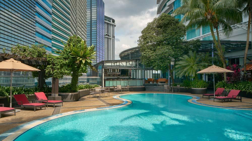 Pool at Le Meridien in Kuala Lumpur