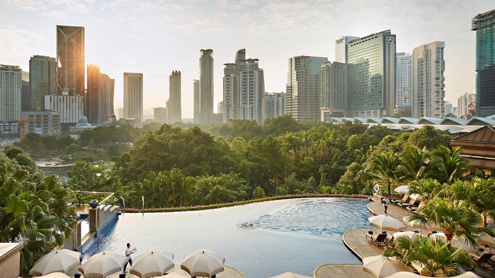 Pool at the Mandarin Oriental in Kuala Lumpur