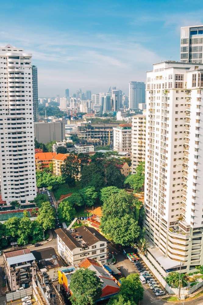 The area of Bukit Bintang in Kuala Lumpur, Malaysia.