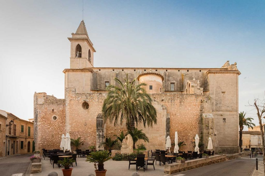 Cathedral in Santanyi, in Mallorca Spain