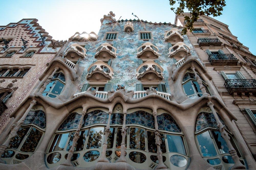 Casa Batlo from underneath
