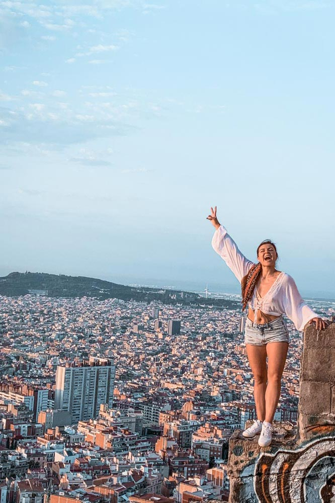 Melissa standing at the El Carmel Bunkers in Barcelona