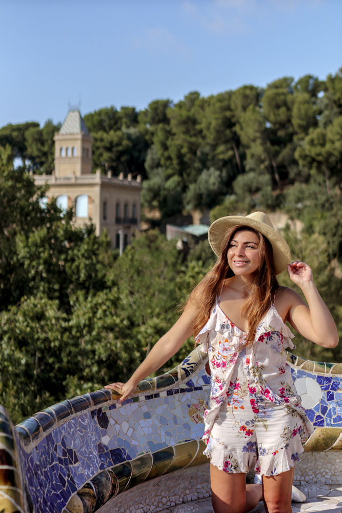 Melissa standing at Park Guell in Barcelona