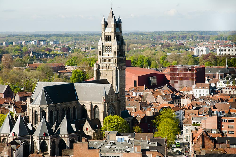 Drone photo of St Salvator's Cathedral