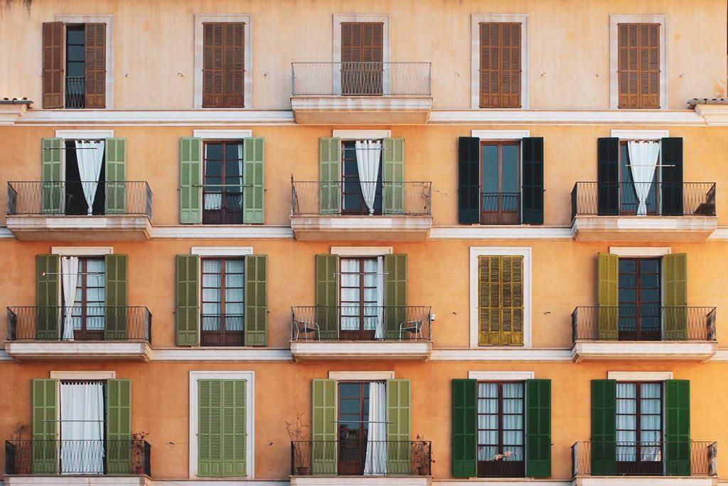 Colourful house in Palma de Mallorca