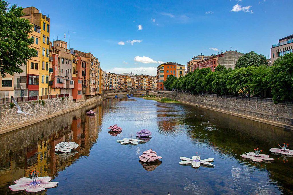 river of girona in Barcelona