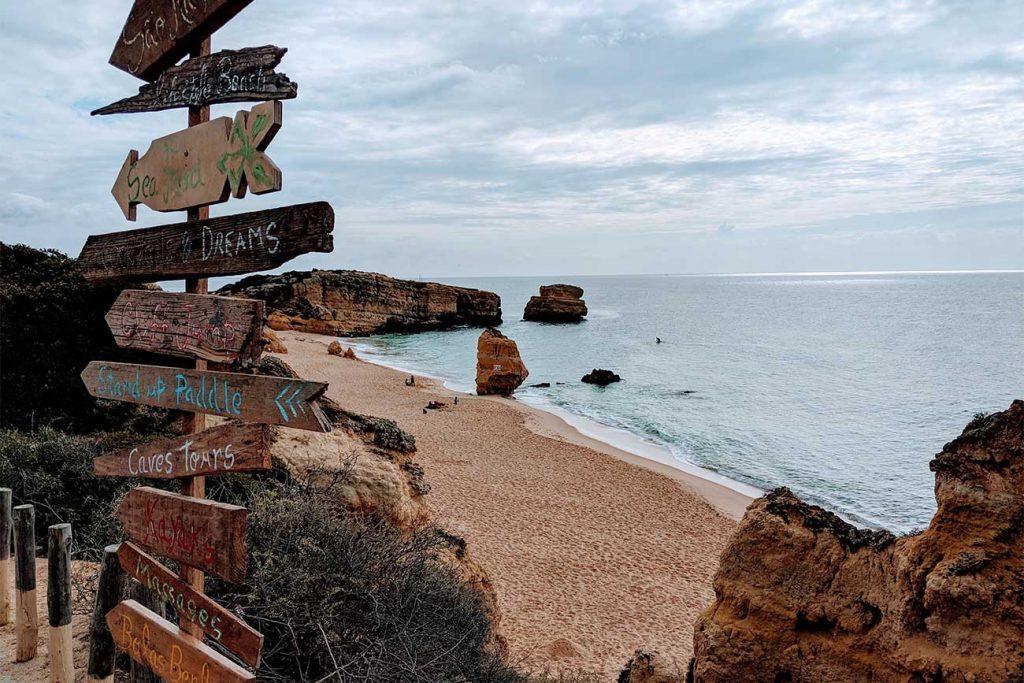 Albufeira Beach in Algarve Portugal