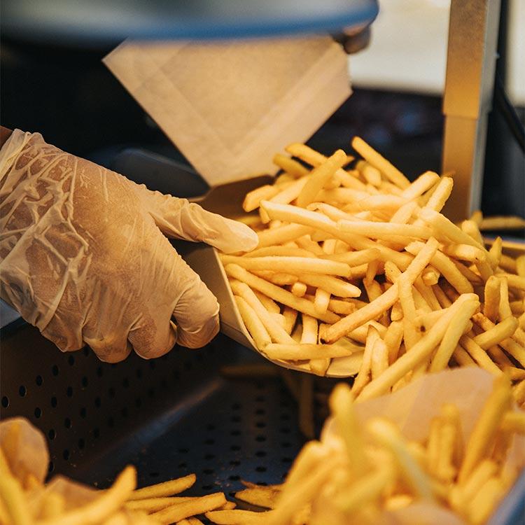 Belgian fries in Brussels