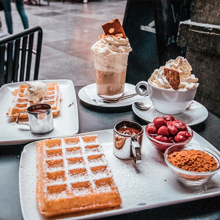 Waffles at Maison Dandoy in Brussels