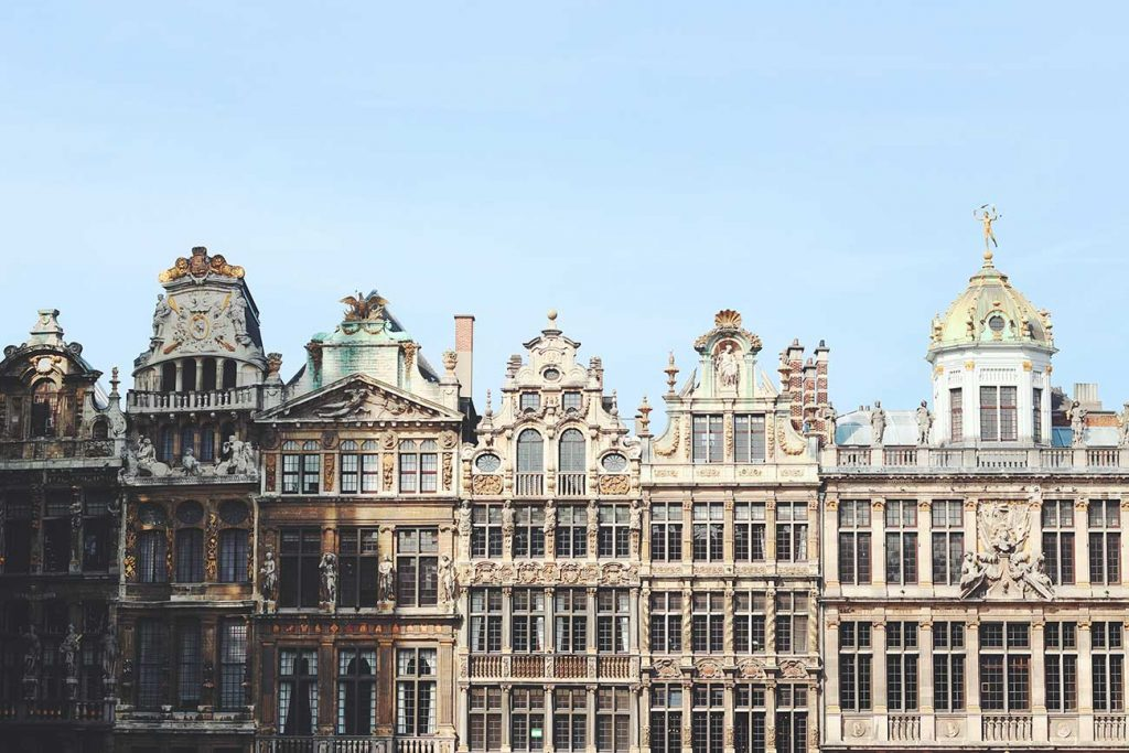 Houses in the centre of Brussels, Belgium