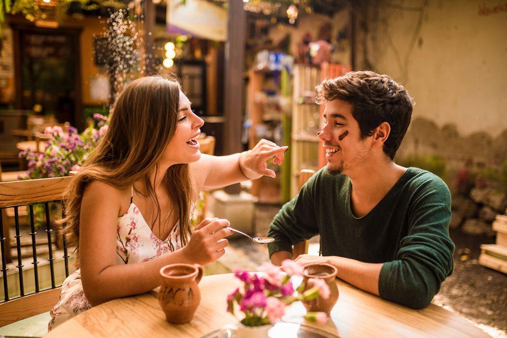 Guga and Girl Around the World tasting chocolate at the choco museum in Antigua Guatemala