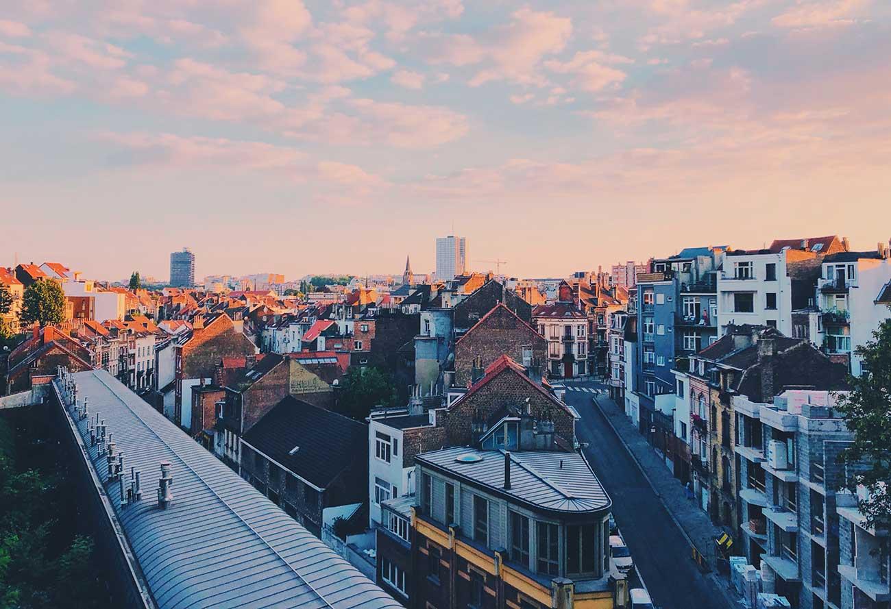 Ixelles neighborhood in Brussels Belgium
