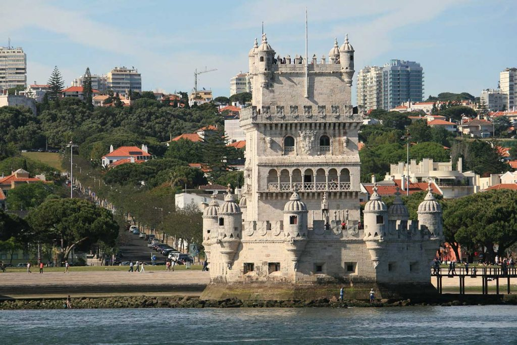 Landscape with Lisbon hills and Belem Tower