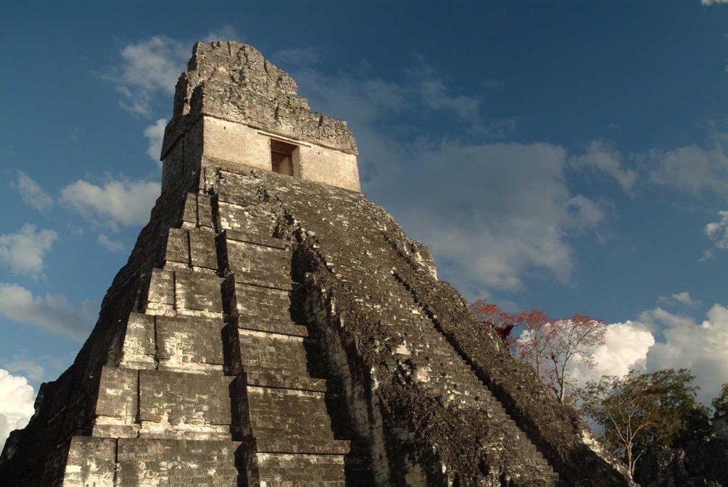 Landscape of Tikal Ruins in Guatemala