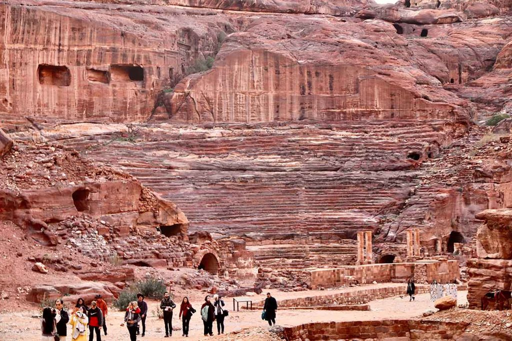 The street of Facades and Amphitheater in Petra