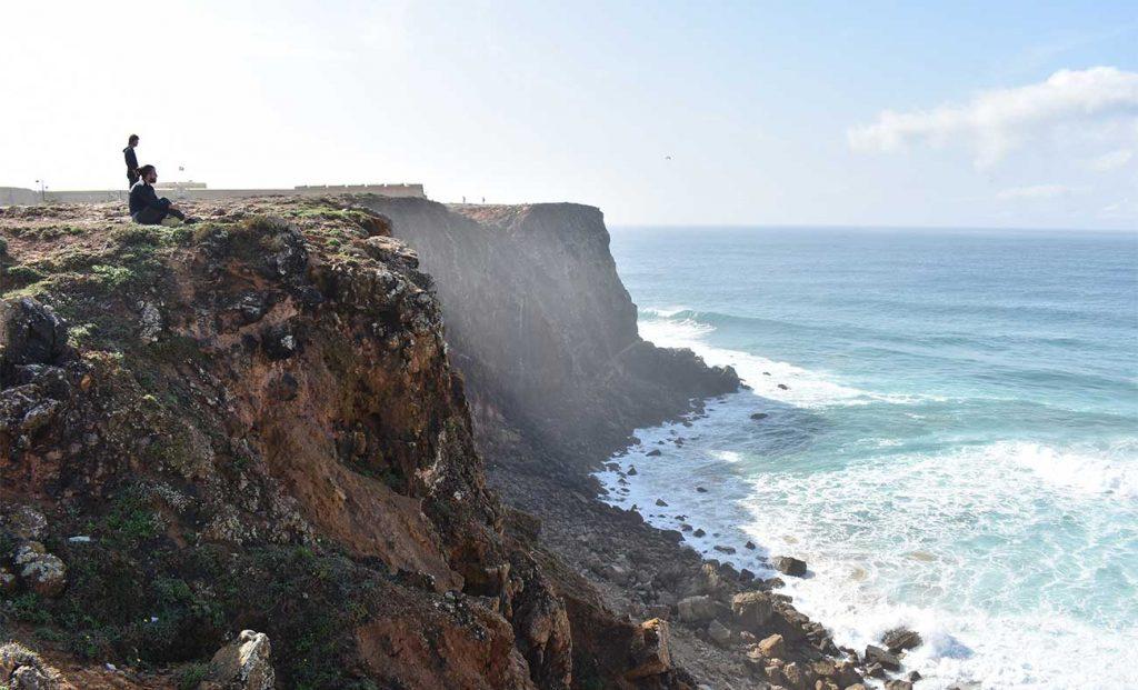 Landscape of Sagres Hills in Algarve Portugal