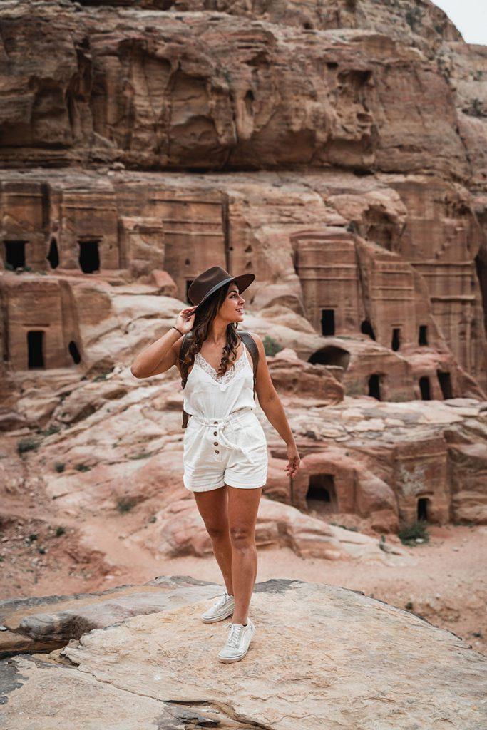 Melissa standing in the Wadi Rum Desert close to Petra Jordan