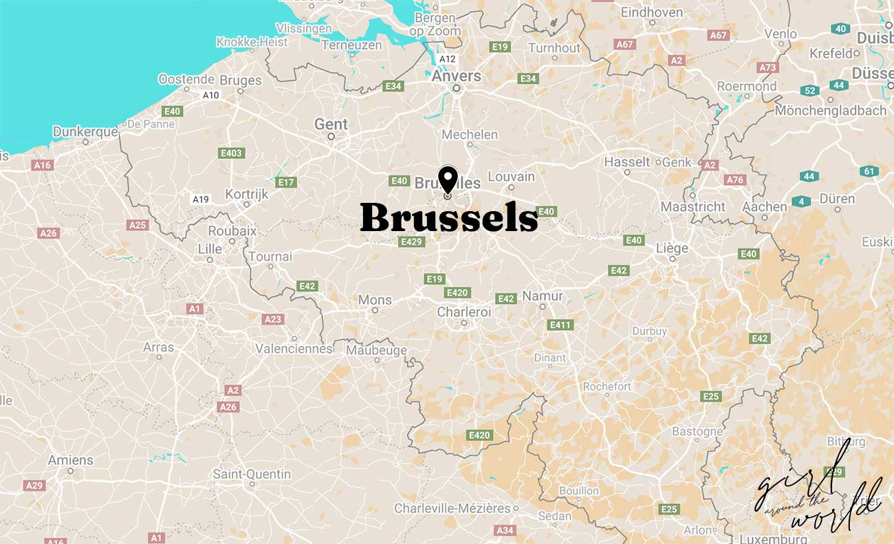 where is brussels located in belgium