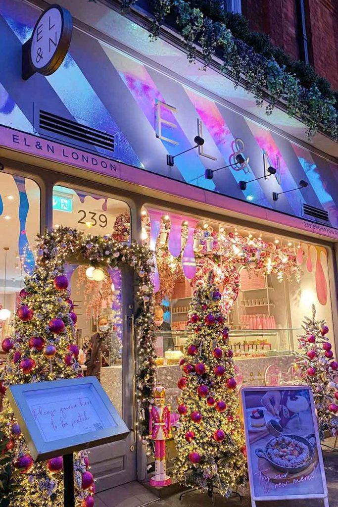 Elan Cafe London Christmas decorations