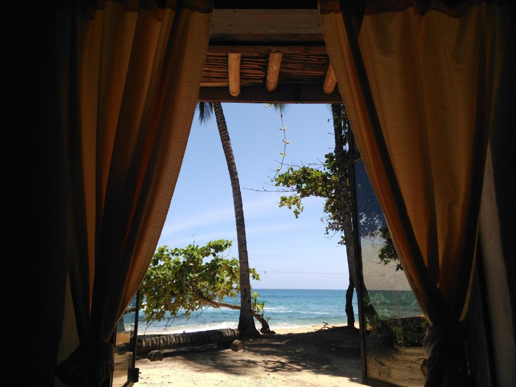 Beachfront tent at Jale Ecolodge in Sao Tome