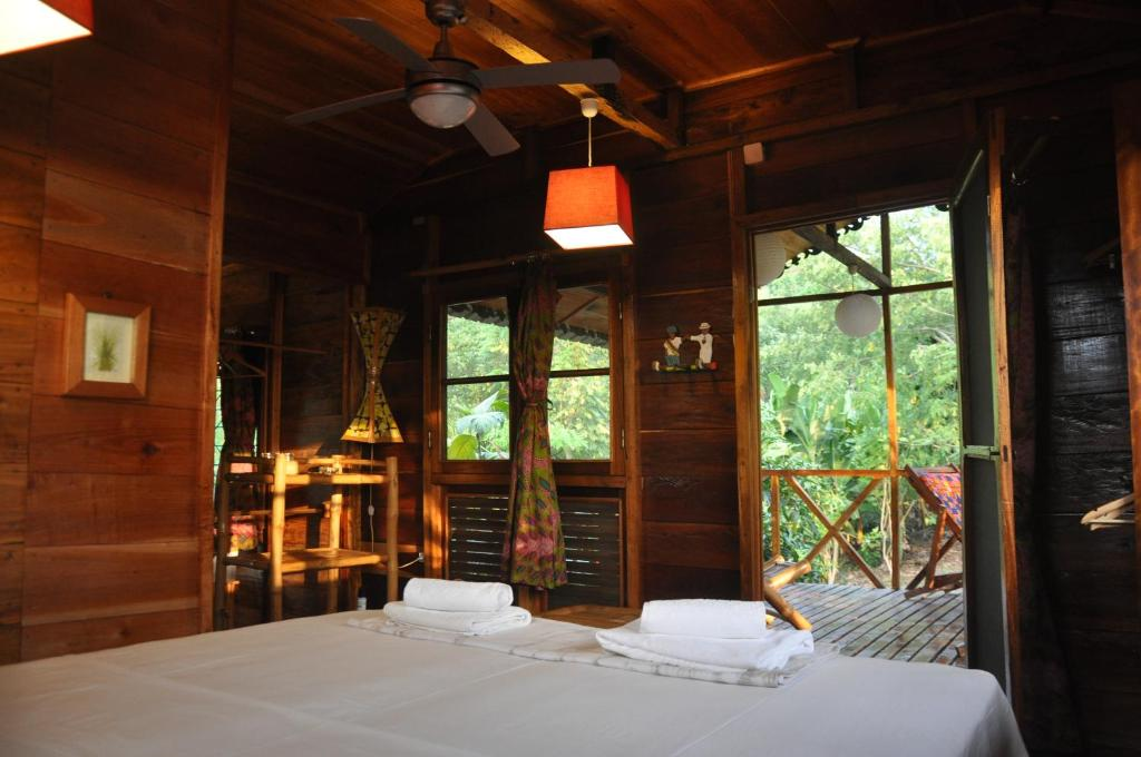 Room overlooking the jungle at Mucumbli in Sao Tome