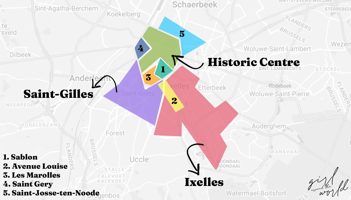 brussels area map
