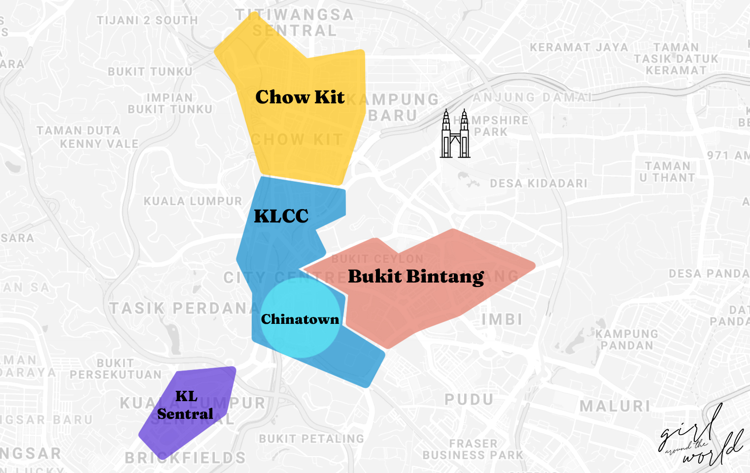 where to stay in kl map of the best areas