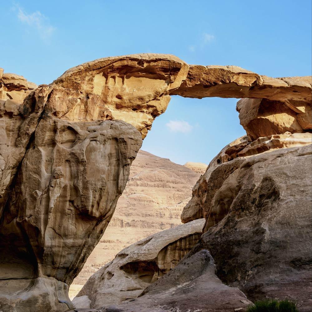 Wadi Rum desert, Um Fruth Rock Bridge