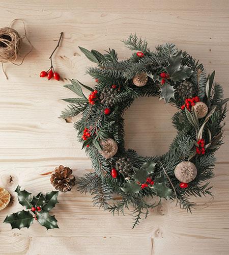 diy christmas wreath for the front door