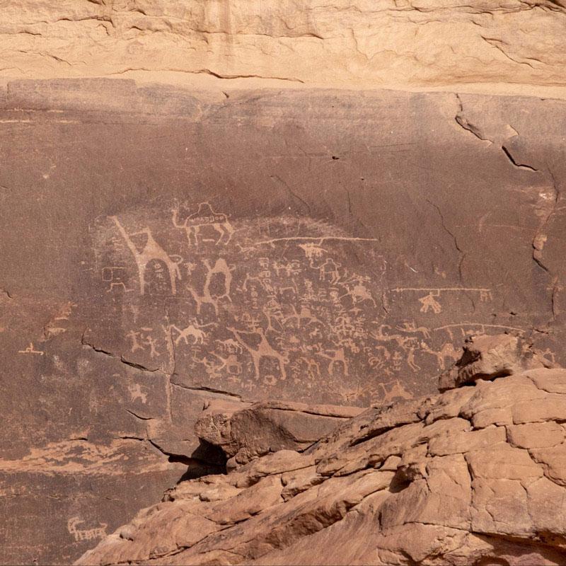 Khazali Siq in the Wadi Rum Desert