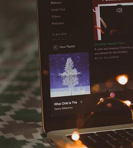 making a christmas playlist