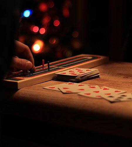 playing christmas games