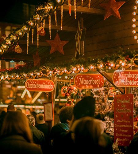 visiting a christmas market