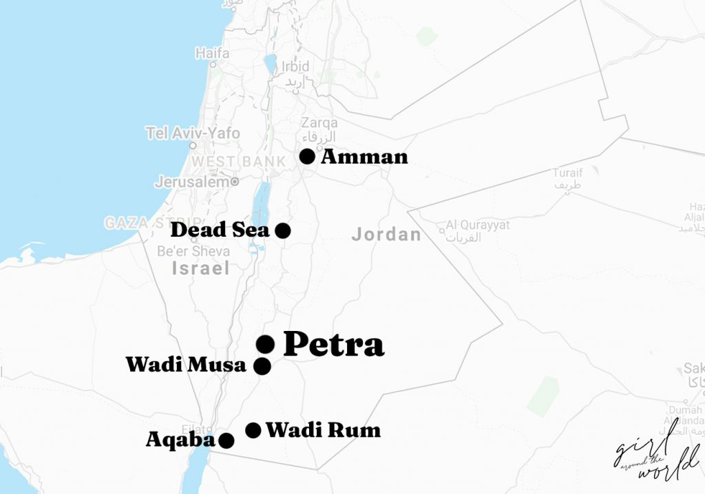 where is petra located